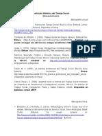 Relacion de bibliografia encontrada Evolución Histórica del Trabajo Social.doc