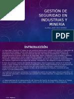 Gestión de Seguridad en Industrias y Minería