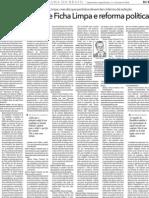 Aloysio defende Ficha Limpa e reforma política