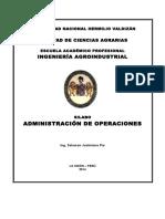 Silabo de Administracion de Operaciones 2016 - II