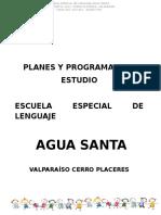 Planes y Programas de Estudio Escuela Agua Santa Final