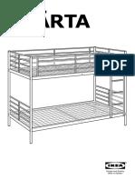 Svarta Bunk Bed Frame AA 906799 2 Pub
