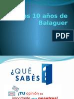 Los 10 Años de Balaguer