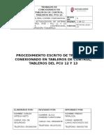 Proc. Trabajos de Conexionado de Tableros de Control Pcu 22