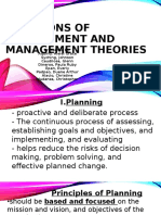 Functions of Management and Management Theories