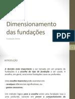 Aula Nº 06 - Dimensionamento Das Fundações - FUNDAÇÃO DIRETA