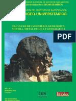 RIIGEO INVESTIGADORES-UNIVERSITARIOS. INSTITUTO DE INVESTIGACIÓN DE LA FACULTAD DE INGENIERÍA GEOLÓGICA,  MINERA, METALÚRGICA Y GEOGRÁFICA-UNMSM