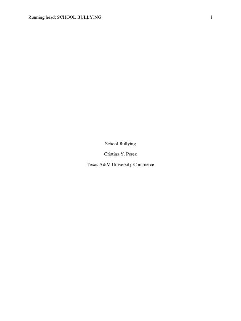 Essay proposal bullying