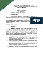DECRETO SUPREMO N° 020-2001