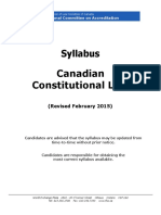 2016 NCA Canadian Constitutional Law Syllabus