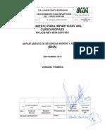 Pr-jcb-rey-sha-2016-035 Procedimiento Para Imparticion Del Curso Rigpass