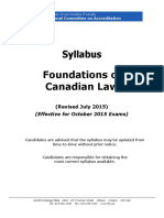 2016 NCA Foundations of Canadian Law Syllabus