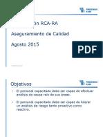 Capacitación RCA RA