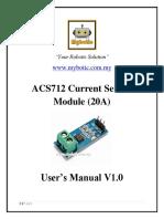 ACS712 Current Sensor Module (20A) User's Manual v1.0