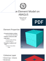 Cohesive Element Model on ABAQUS