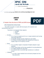 TRANSISTORS QUESTION AND ANSWERS DOC BY PRANGHI