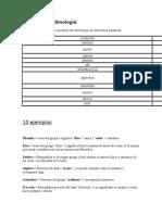 Ejemplos de Etimología