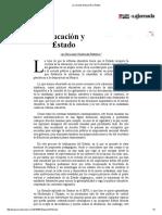 La Jornada_ Educación y Estado