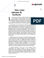 La Jornada_ Las Fobias Como Síntoma de Barbarie