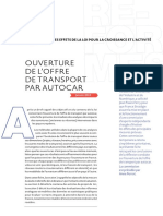 Ouverture de l'offre de transport par autocar