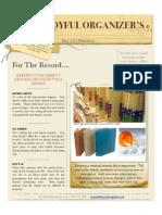 The Joyful Organizer's May 2010 Newsletter