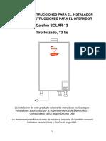 Manual Solar 13