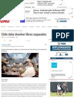 Chile Debe Devolver Libros Saqueados - Diario UNO