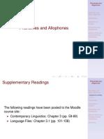Phonemes Allophones