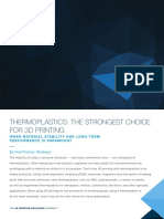 Thermoplastics- The Strongest Choice for 3d Printing