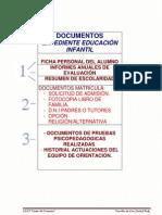 Documentos Expediente Educ. Infantil.