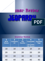 Grammar Review Jeopardy Game