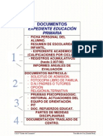 Documentos Expediente Educ. Primaria