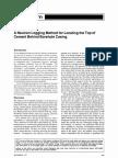 A Neutron Logging Method