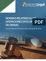 Normas Relativas a Las Operaciones en El Mercado de Divisas