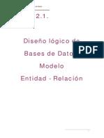 Diseño Lógico de BD - Modelo E.R