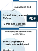 Chapter 15 Managing Engineering and Technology
