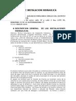 Memoria de Instalacion Hidraulica Juzgadospenales Orales