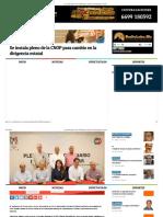 26-09-2016 Se Instala Pleno de La CNOP Para Cambio en La Dirigencia Estatal