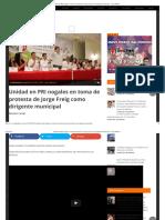 30-09-16 Unidad en PRI nogales en toma de protesta de Jorge Freig como dirigente municipal