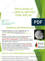 Applications of Numerical Methods Using Matlab