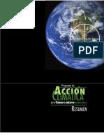 Resumen Programa de Acción Climatica de la Ciudad de México 2008 2012
