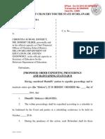 Las Americas ASPIRA v. Christina School District - Proposed Order to Expedite and for Status Quo