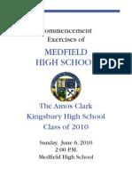 Medfield High School Graduation