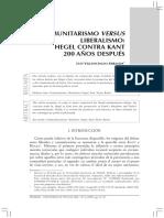 Villavicencio - Hegel Contra Kant