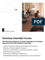 How to prepare a successful workshop proposal