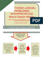 La Actividad Judicial Problemas Interpretativos