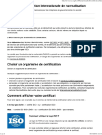 Certification - IsO