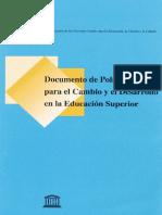 Documento politica