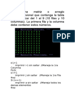 Algoritmo Multiplicar Del 1 Al 9