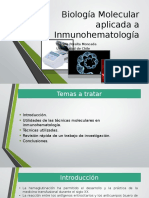 Myslide.es Biologia Molecular Aplicada a Inmunohematologia